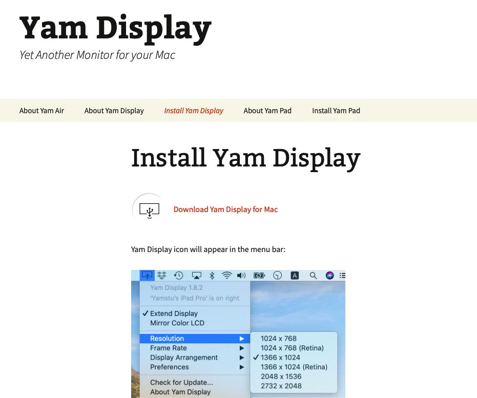 Yam display 2